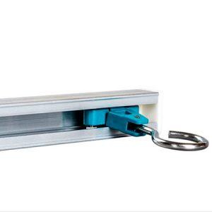 riel de cortina flexible deslizante médica de aleación de aluminio para Hospital